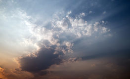Abstrakcjonistyczny niebo i chmura Obrazy Stock