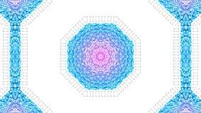 Abstrakcjonistyczny niski poli- styl zapętlający tło 3d bezszwowa animacja w 4k Nowożytni gradientów kolory Niski poli- czerwony  royalty ilustracja