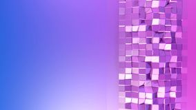 Abstrakcjonistyczny niski poli- styl zapętlający tło 3d bezszwowa animacja w 4k Nowożytni gradientów kolory Fiołek powierzchni sh ilustracja wektor