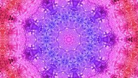 Abstrakcjonistyczny niski poli- styl zapętlający tło 3d bezszwowa animacja w 4k Nowożytni gradientów kolory Niska poli- błękitna  ilustracji
