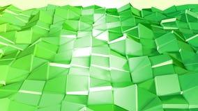 Abstrakcjonistyczny niski poli- styl zapętlający tło 3d bezszwowa animacja w 4k Nowożytni gradientów kolory Zieleni powierzchni s royalty ilustracja
