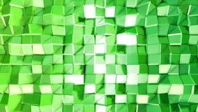 Abstrakcjonistyczny niski poli- styl zapętlający tło 3d bezszwowa animacja w 4k Nowożytni gradientów kolory Zieleni powierzchni s ilustracja wektor