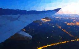 Abstrakcjonistyczny niski wieloboka skrzydło airplant tapeta Zdjęcia Royalty Free