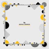 Abstrakcjonistyczny nowożytny kolor żółty i czarny geometryczny kształt obramiamy grafikę Ty dekoruje projekt możesz używać dla p ilustracja wektor