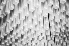 Abstrakcjonistyczny nowożytny architektura czerep Biały projekt Fotografia Stock