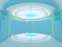 Abstrakcjonistyczny nowożytny architektury tło świadczenia 3 d Obrazy Stock
