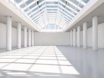 Abstrakcjonistyczny nowożytny architektury tło, pusta biała otwarta przestrzeń Zdjęcie Royalty Free