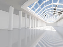 Abstrakcjonistyczny nowożytny architektury tło, pusta biała otwarta przestrzeń Zdjęcie Stock