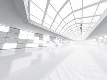 Abstrakcjonistyczny nowożytny architektury tło, pusta biała otwarta przestrzeń Zdjęcia Stock