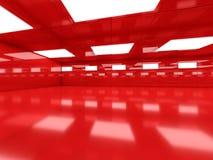 Abstrakcjonistyczny nowożytny architektury tło, pusty otwartej przestrzeni interi Obrazy Royalty Free