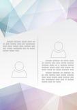 Abstrakcjonistyczny nowożytny broszurka szablon - kryształ Zdjęcie Royalty Free