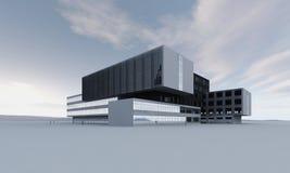Abstrakcjonistyczny nowożytny budynek Obrazy Royalty Free