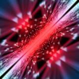 Abstrakcjonistyczny nowożytny czerwonej linii tła 3d rendering Zdjęcia Stock