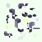 Abstrakcjonistyczny nowożytny geometryczny tło Projekta sztandaru kształty Ilustracja Wektor