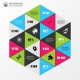 Abstrakcjonistyczny nowożytny heksagonalny infographic wektor Fotografia Stock