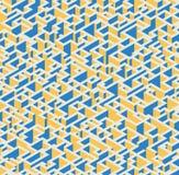 Abstrakcjonistyczny nowożytny kolorowy isometric geometryczny deseniowy tło Obraz Stock