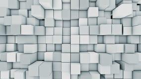 Abstrakcjonistyczny nowożytny kubiczny nawierzchniowy tło Błękitna loopable sześcianu ruchu 3D animacja royalty ilustracja