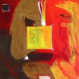 abstrakcjonistyczny nowożytny obrazu kwadrata kolor żółty Fotografia Stock