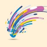Abstrakcjonistyczny nowożytny styl z składem robić różnorodni zaokrągleni kształty w kolorowym projekcie kształtuje royalty ilustracja
