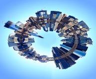 Abstrakcjonistyczny Nowy York linii horyzontu świat Zdjęcia Royalty Free