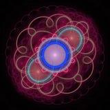 Abstrakcjonistyczny oświetleniowy vawes fractal Zdjęcie Royalty Free