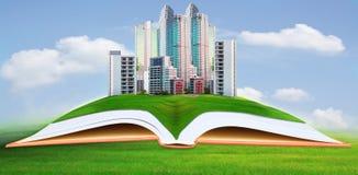 Abstrakcjonistyczny oapartment, architektoniczny, architektura, książka, budynek, biznes, pojęcie, kondominium, budowa, projekt, d Fotografia Stock