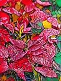 Abstrakcjonistyczny obraz czerwień opuszcza - tło wizerunek ilustracja wektor