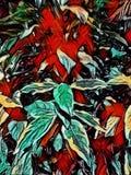 Abstrakcjonistyczny obraz kolorowi liście - tło wizerunek ilustracja wektor