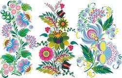 Abstrakcjonistyczny obraz - kwiaty royalty ilustracja