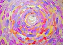 Abstrakcjonistyczny obraz słońce, piękny kolorowy światło na kanwie Nowożytny impresjonizm Ilustracja jaskrawy olśniewający słońc Fotografia Royalty Free