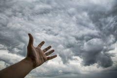 Abstrakcjonistyczny obrazek ciemne burzowe chmury Klimatu i pogody zarządzanie Obrazy Royalty Free