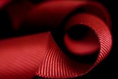 Abstrakcjonistyczny obrazek Czerwony faborek, makro- zdjęcie stock