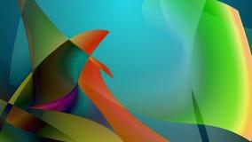 Abstrakcjonistyczny obrazek kilka kolorowi rybi flippers royalty ilustracja