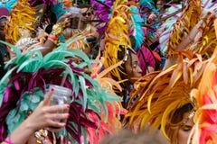 Abstrakcjonistyczny obrazek tłum ludzie na Karneval dera Kulturen C Zdjęcie Royalty Free