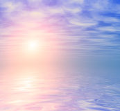 Abstrakcjonistyczny oceanu wschodu słońca tło Obraz Royalty Free