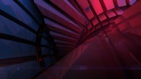 Abstrakcjonistyczny odbijający błyszczący plastikowy kształta 3d rendering Obraz Stock