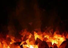 Abstrakcjonistyczny Ognisty Poligonalny tło ilustracja wektor
