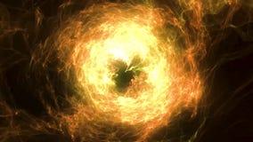 Abstrakcjonistyczny ognisty sfery tło z świecącym wiruje tłem kula rozjarzona Połysk round rama z lekkimi okręgami ilustracji