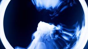 Abstrakcjonistyczny ognisty sfery tło z świecącym wiruje tłem kula rozjarzona Połysk round rama z lekkimi okręgami Zdjęcie Royalty Free