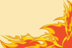 Abstrakcjonistyczny ognisty tło Zdjęcie Royalty Free