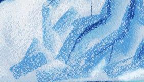 Abstrakcjonistyczny ogromny lodowy tekstury tło Malujący z pastelem na papierowej ilustracji royalty ilustracja