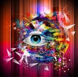 Abstrakcjonistyczny oko Obrazy Stock