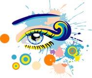 abstrakcjonistyczny oko Zdjęcie Royalty Free