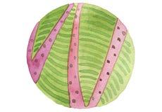 Abstrakcjonistyczny okrąg malujący akwareli tło papierowa tekstura Jest Zdjęcie Royalty Free