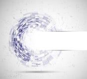 Abstrakcjonistyczny okręgu tecnology biznesu tło Obraz Royalty Free