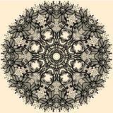 Abstrakcjonistyczny okrąg koronki faborku wzór Fotografia Stock