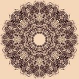 Abstrakcjonistyczny okrąg koronki faborku wzór ilustracji
