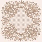 Abstrakcjonistyczny okrąg koronki faborku wzór royalty ilustracja