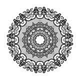 Abstrakcjonistyczny okrąg koronki faborku wzór ilustracja wektor