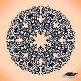 Abstrakcjonistyczny okrąg koronki faborku wzór. ilustracji